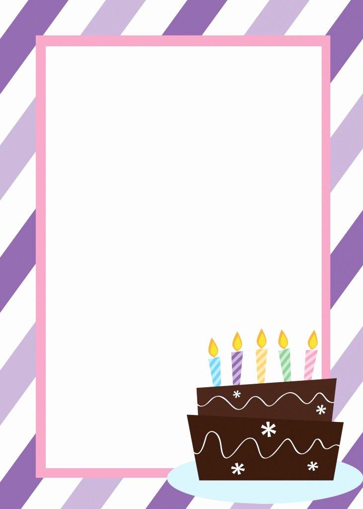 Reception Invitation Template Free Beautiful Free Printable Birthday Invitation Templates