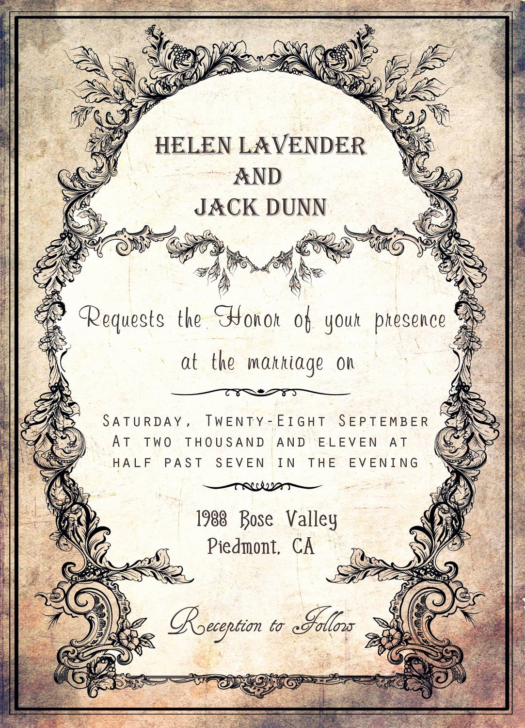 Reception Invitation Template Free Beautiful Silver Wedding Invitations