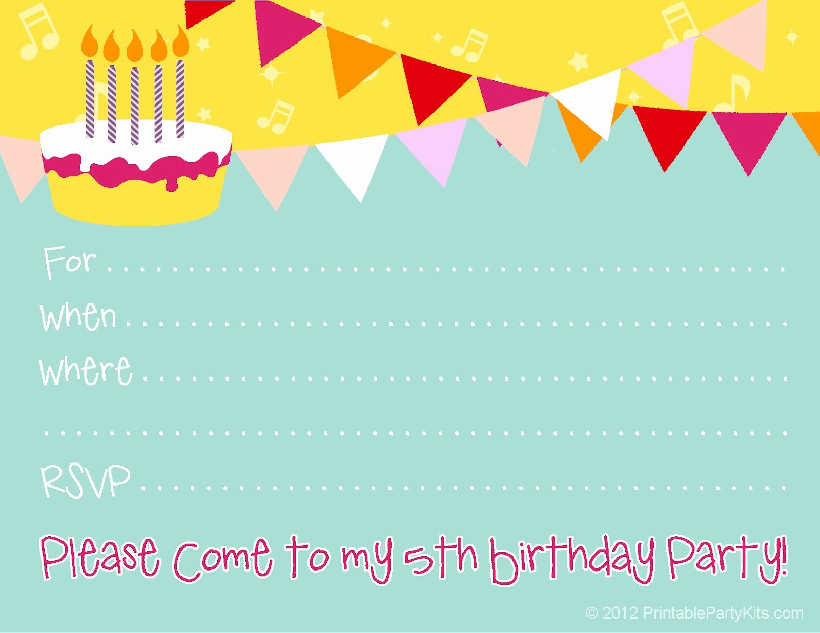 Reception Invitation Template Free Best Of Free Birthday Party Invitations for Girl – Free Printable