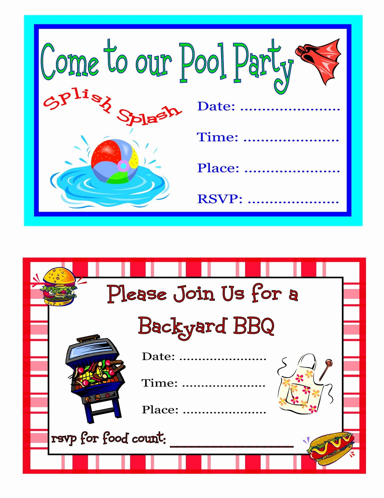 Reception Invitation Template Free Lovely Free Printable Party Invitations