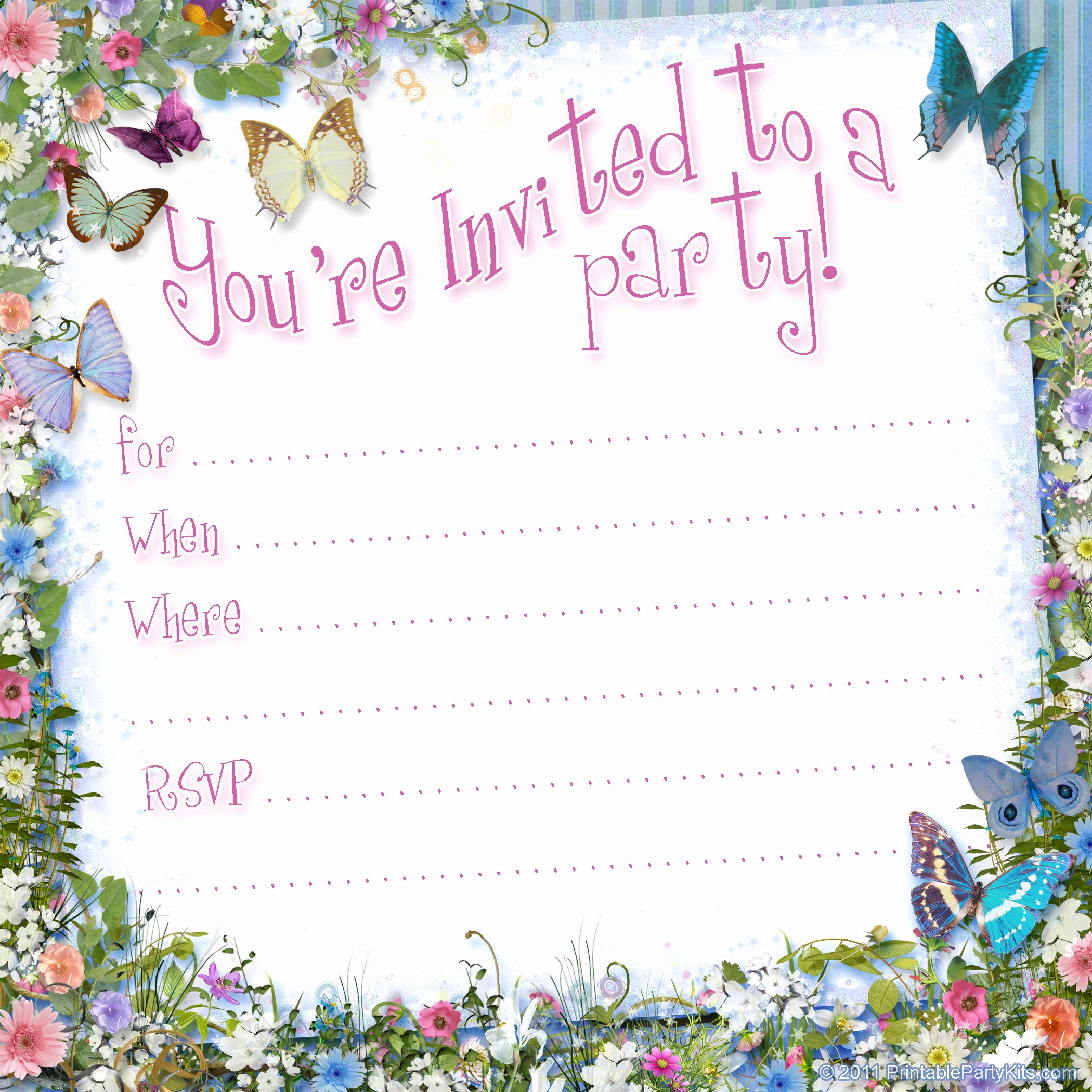 Reception Invitation Template Free New Free Printable Girls Birthday Invitations – Free Printable