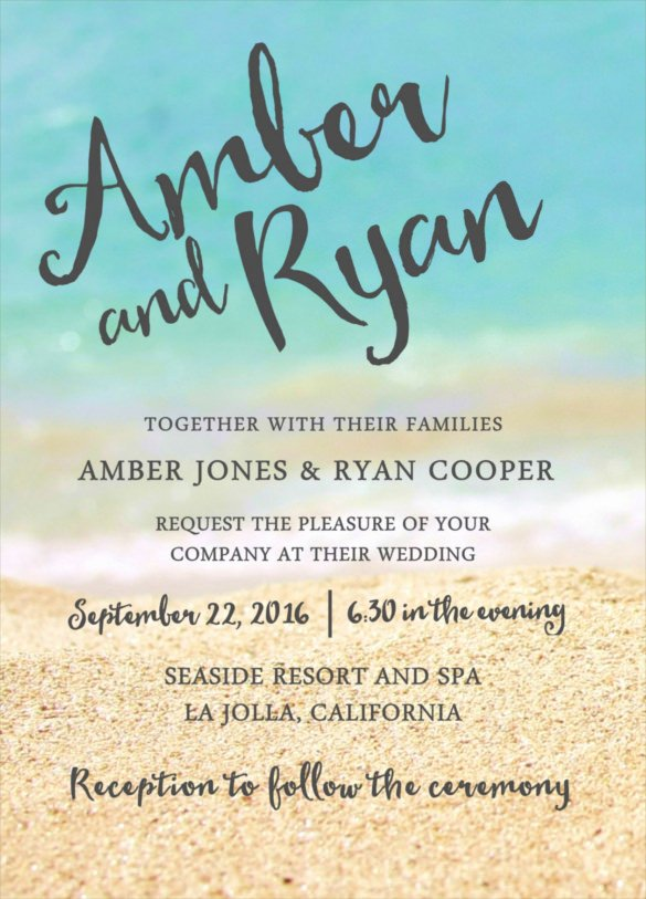 sample wedding reception invitation