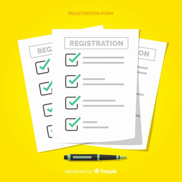 Registration form Template Free Download Elegant Registration form Template with Flat Design Vector