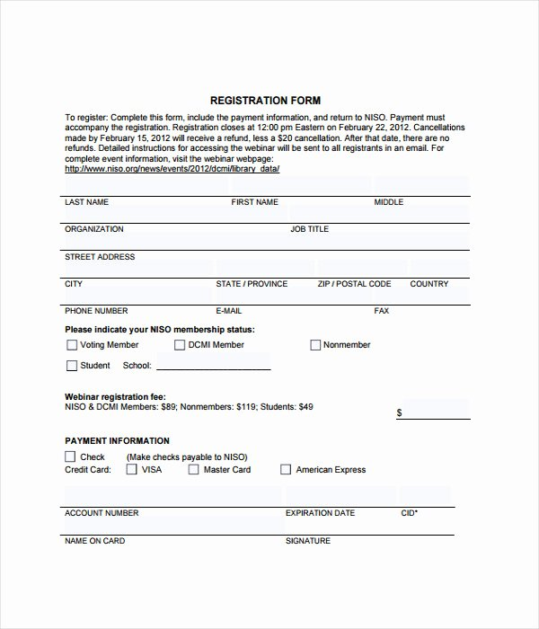 Registration form Template Free Download Lovely form Templates 12 Free Word & Pdf Documents Download