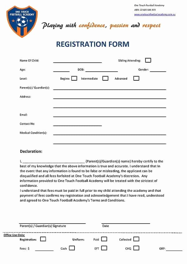 Registration form Template Microsoft Word Awesome Academy Registration form Templates Find Word Templates