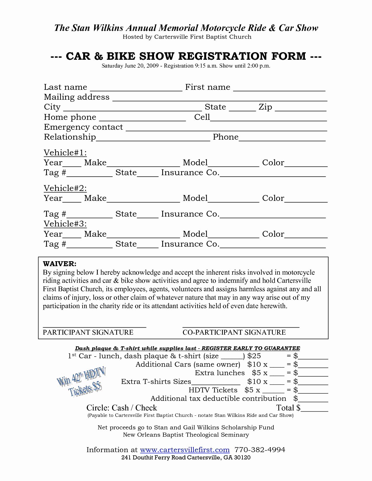 Registration form Template Microsoft Word Fresh Car Show Registration form Templates Word Excel Samples