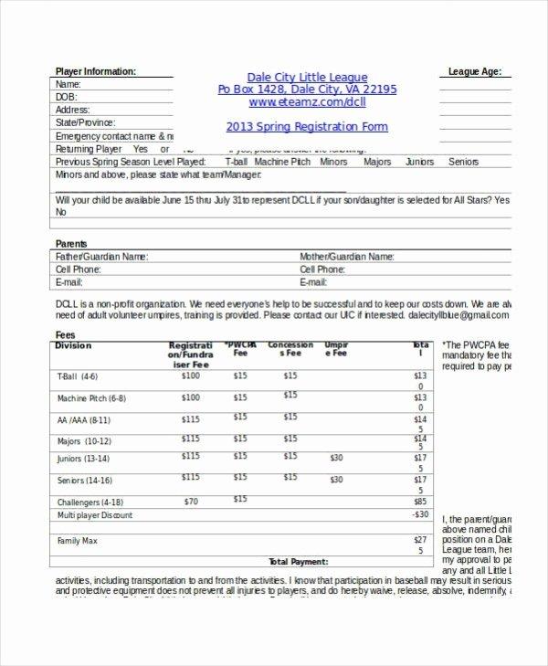 Registration form Template Microsoft Word Fresh Registration form Template 11 Free Pdf Word Documents