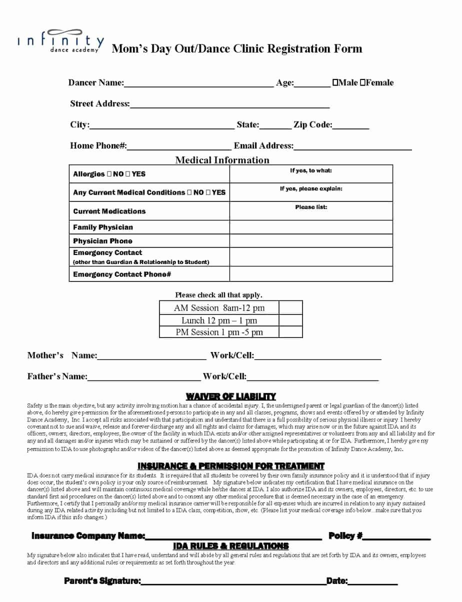 Registration form Template Microsoft Word Luxury Academy Registration form Templates Find Word Templates
