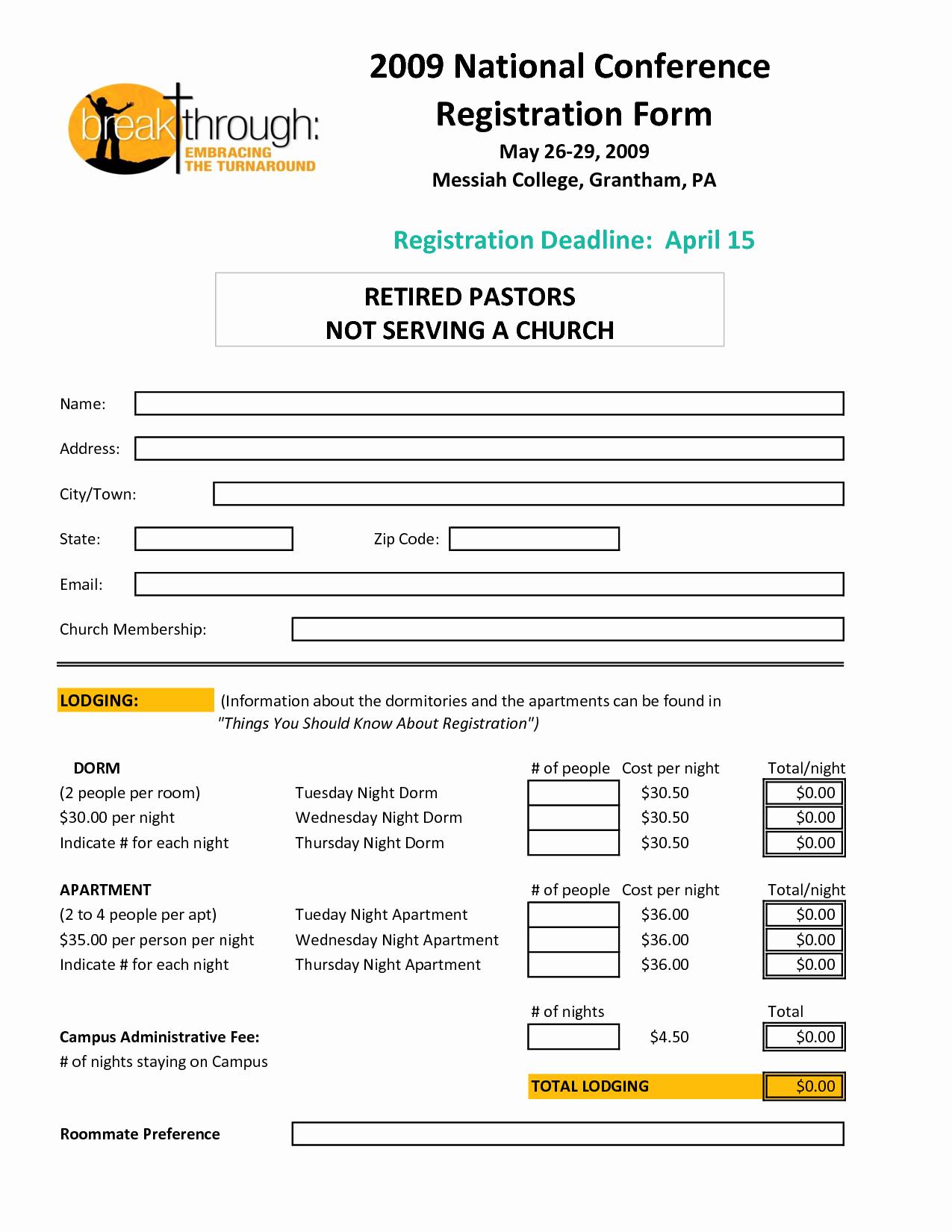 Registration form Template Microsoft Word Luxury Registration form Template