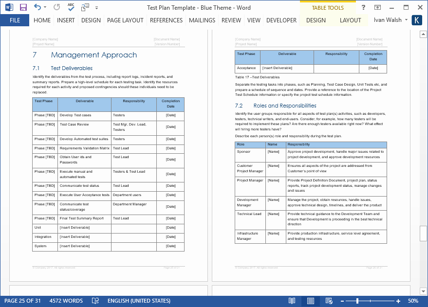 Release Plan Template Excel Awesome Test Plan Templates Ms Word Excel – Templates forms