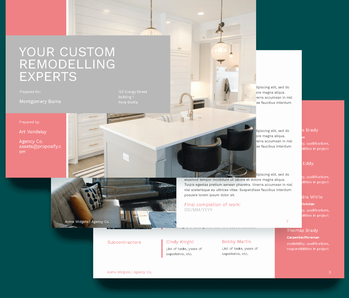 Remodel Project Plan Template Inspirational Remodeling Proposal Template