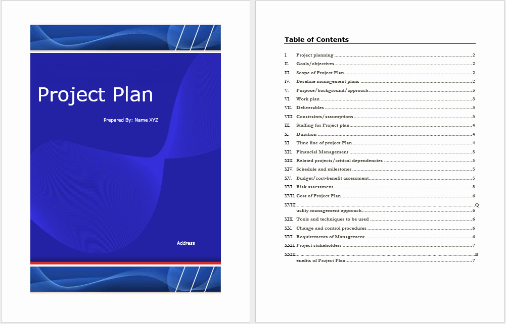 Remodel Project Plan Template New Project Plan Template – Word Templates for Free Download