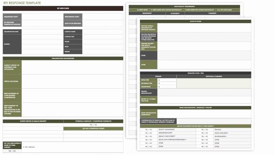 Request for Information Template Construction Luxury Free Request for Information Templates