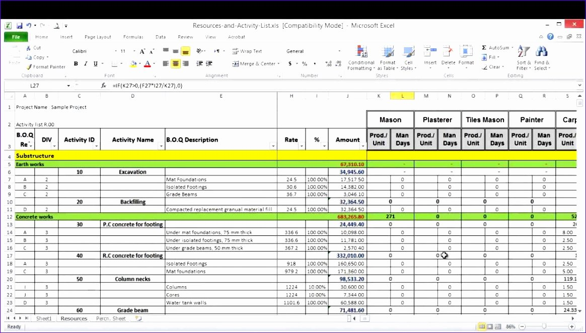 Resource Capacity Planning Excel Template Elegant 6 Resource Capacity Planning Excel Template