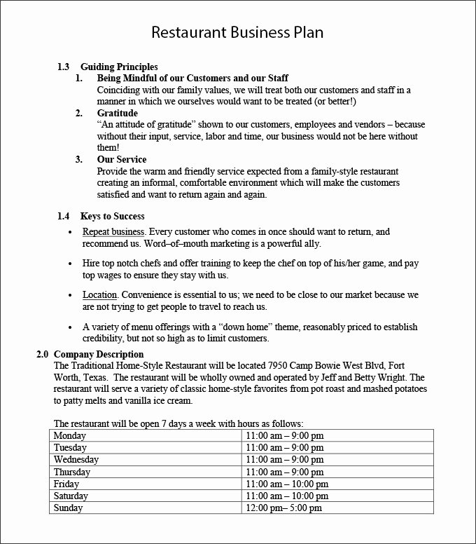 Restaurant Business Plan Template Word Awesome Restaurant Business Plan Template 22 Word Pdf Google