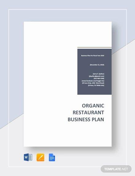 Restaurant Business Plan Template Word Best Of Restaurant Business Plan Template 22 Word Pdf Google