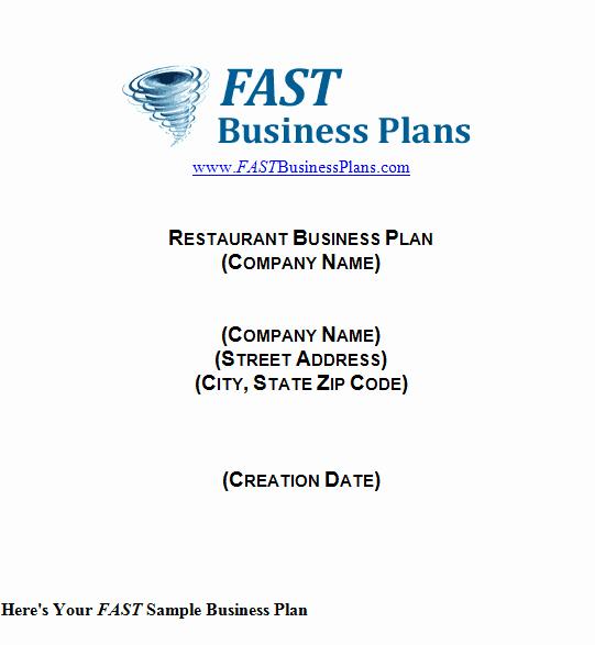 Restaurant Business Plan Template Word Elegant 32 Free Restaurant Business Plan Templates In Word Excel Pdf