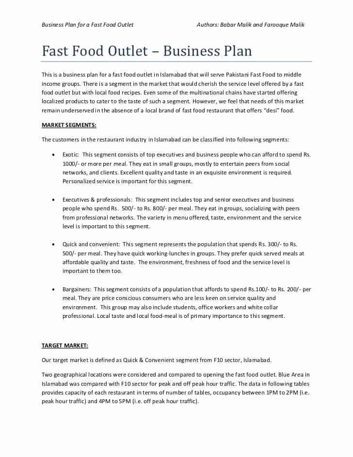 Restaurant Business Plan Template Word Lovely top 5 Resources to Get Free Restaurant Business Plan