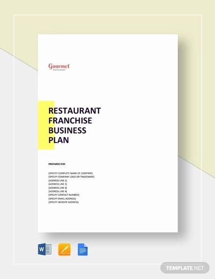 Restaurant Business Plan Template Word Luxury Free 20 Sample Restaurant Business Plan Templates In