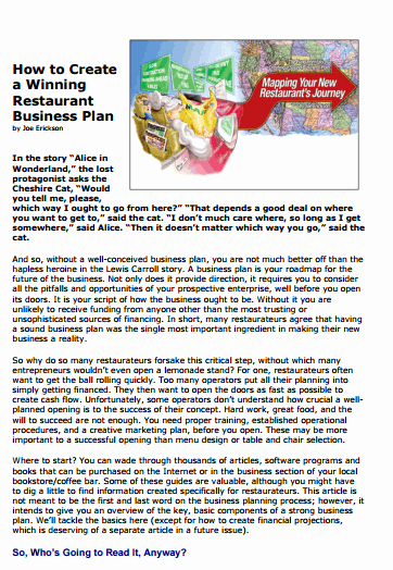 Restaurant Business Plan Template Word New 32 Free Restaurant Business Plan Templates In Word Excel Pdf