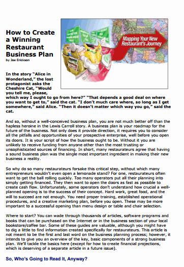 Restaurant Business Plan Template Word New 32 Free Restaurant Business Plan Templates In Word Excel Pdf