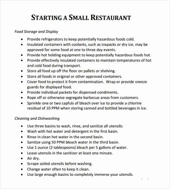 Restaurant Business Plan Template Word Unique 32 Free Restaurant Business Plan Templates In Word Excel Pdf