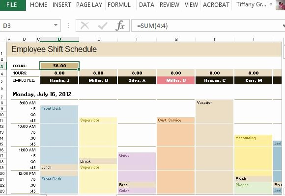 Restaurant Employee Schedule Template Awesome Employee Time & Increment Calculator for Excel