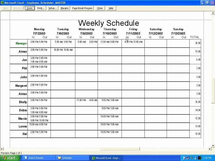 Restaurant Employee Schedule Template Best Of 017 Template Ideas Employee Work Plan Singular Free