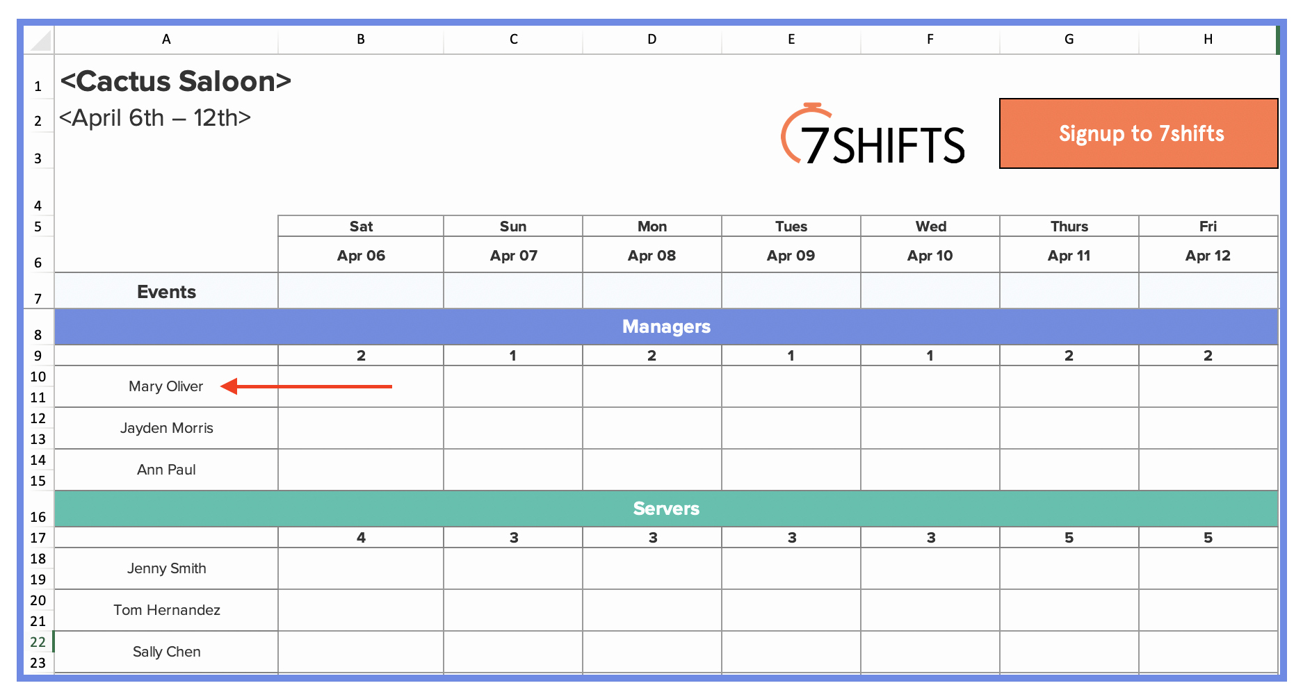 Restaurant Employee Schedule Template Lovely How to Make A Restaurant Work Schedule with Free Excel