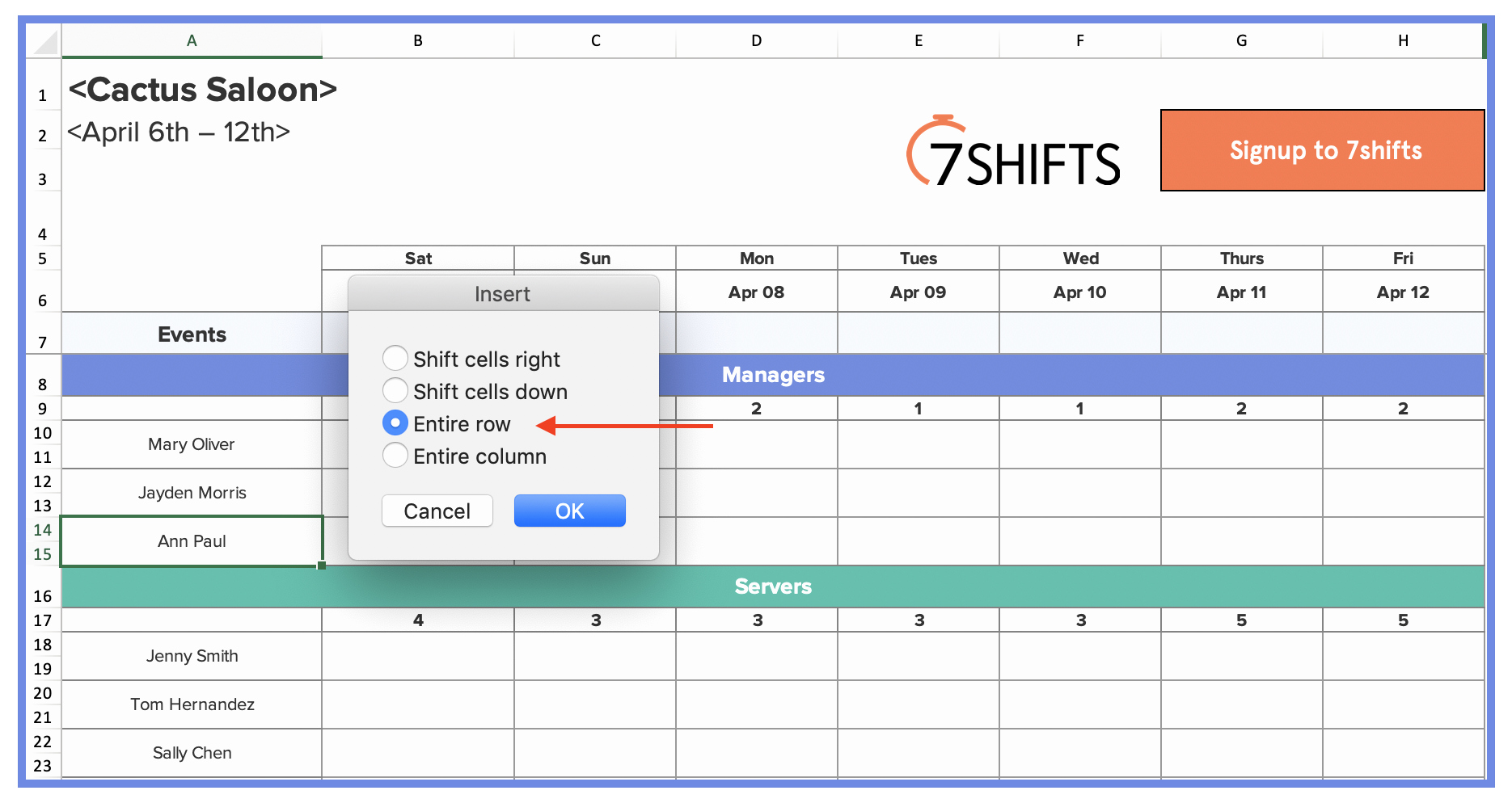 Restaurant Employee Schedule Template New How to Make A Restaurant Work Schedule with Free Excel