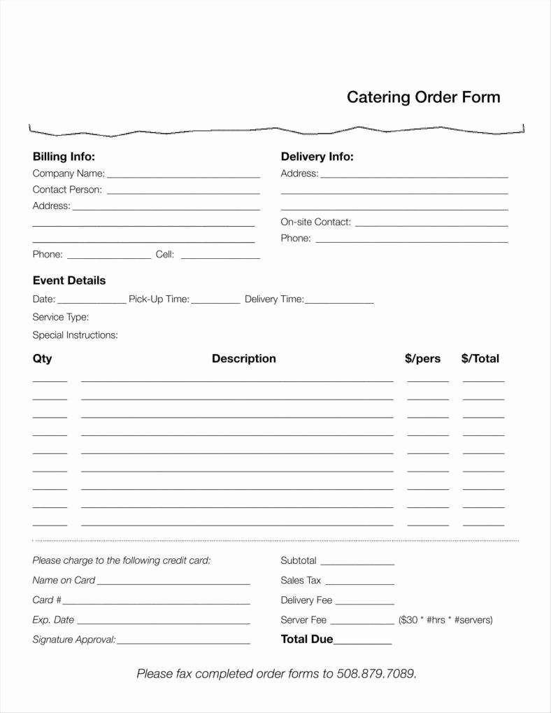 Restaurant Food order form Template Awesome 10 Food order form Templates Word Docs