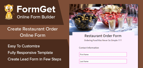 Restaurant Food order form Template Beautiful Restaurant order form for Bars Restaurants & Food Zones