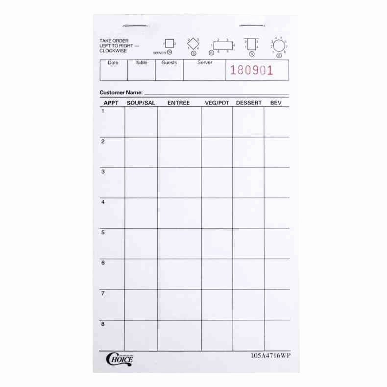 Restaurant Food order form Template Fresh Includes Space the Table Number Of Guests Individual and