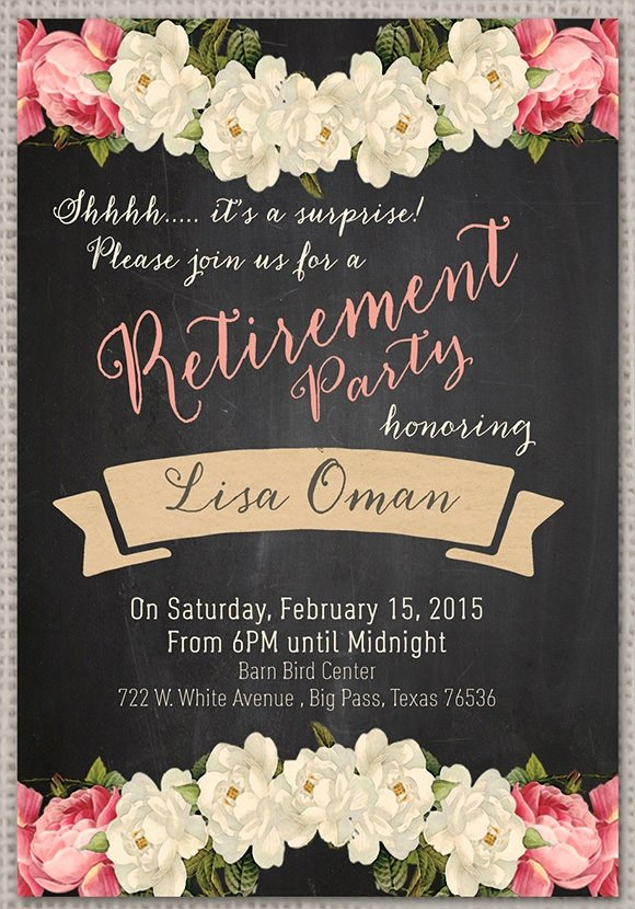 Retirement Dinner Invitation Template Awesome Retirement Party Invitation 7 Premium Download