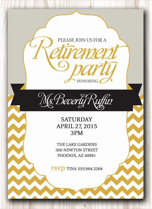 Retirement Dinner Invitation Template Beautiful Free 10 Sample Retirement Invitations In Illustrator