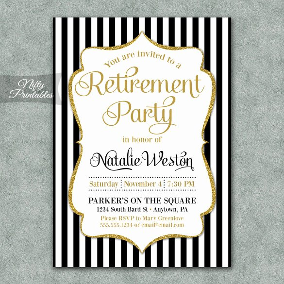Retirement Dinner Invitation Template Beautiful Retirement Party Invitation Template – 36 Free Psd format