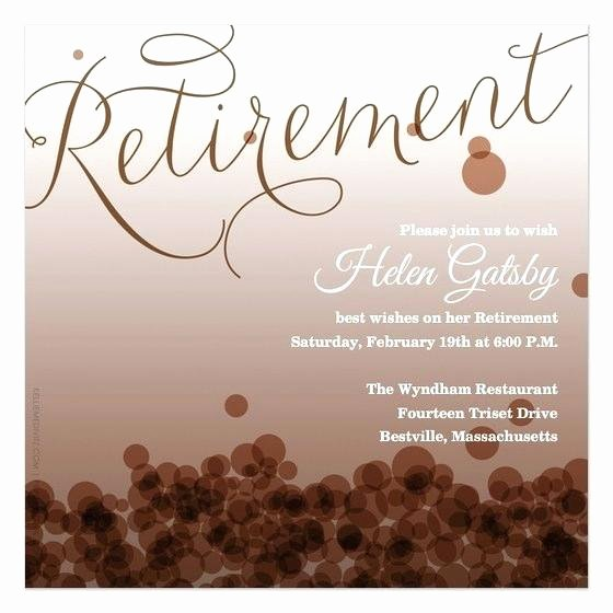 Retirement Dinner Invitation Template Lovely Retirement Party Invitation Template Free