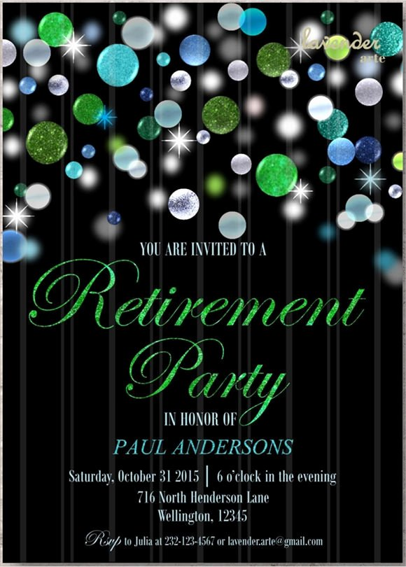 Retirement Dinner Invitation Template Luxury Free 10 Sample Retirement Invitations In Illustrator