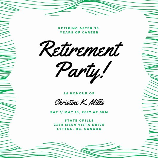 Retirement Dinner Invitation Template Unique Customize 2 892 Retirement Party Invitation Templates