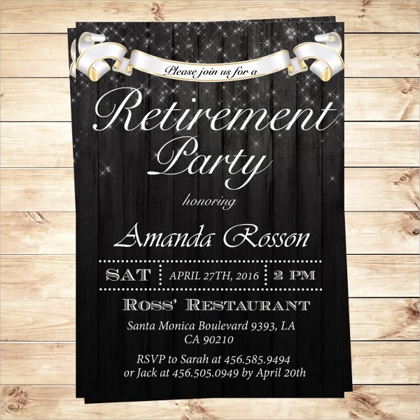 Retirement Dinner Invitation Template Unique Free 17 Retirement Party Invitations In Illustrator