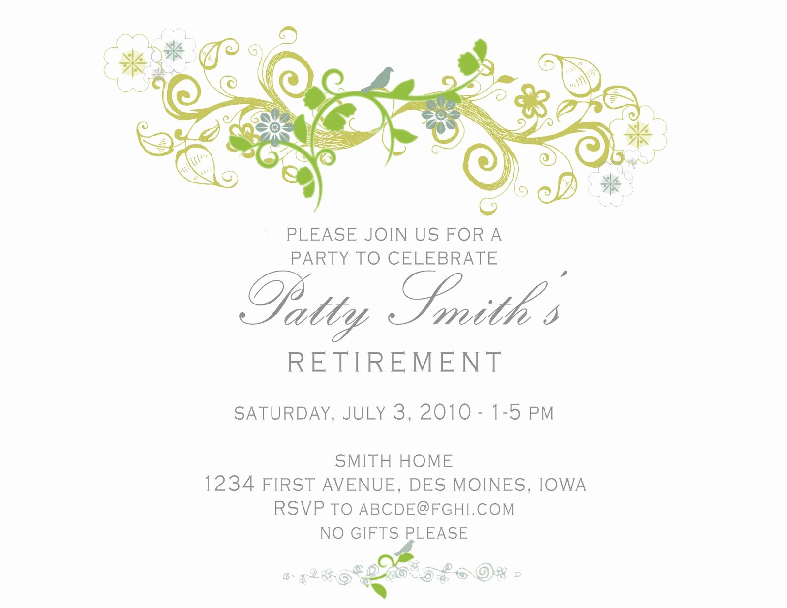 Retirement Luncheon Invitation Template Beautiful Idesign A Retirement Party Invitation