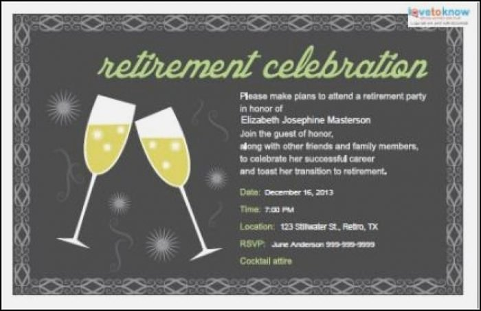 Retirement Luncheon Invitation Template Elegant Free Farewell Invitation Template Word Template 1