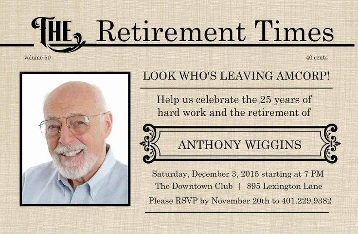 Retirement Luncheon Invitation Template Lovely Retirement Flyer Template Free