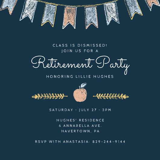 Retirement Luncheon Invitation Template Luxury Customize 2 876 Retirement Party Invitation Templates