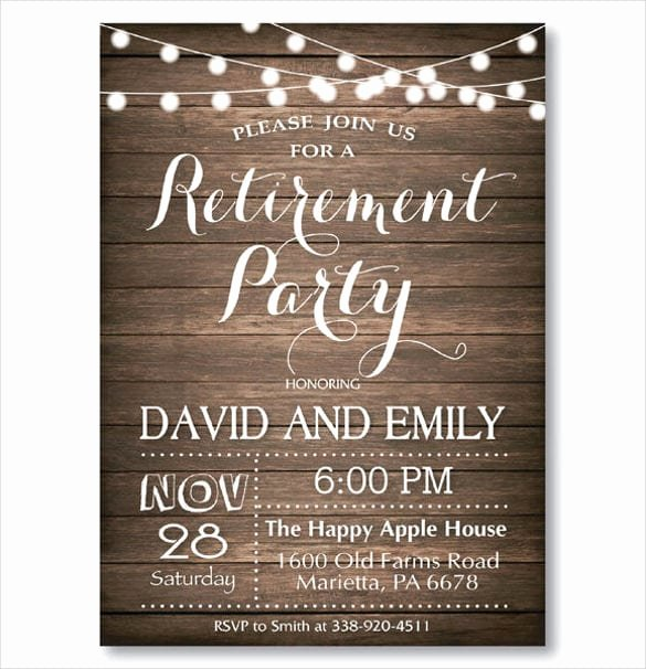 Retirement Luncheon Invitation Template Unique Retirement Party Invitation Templates