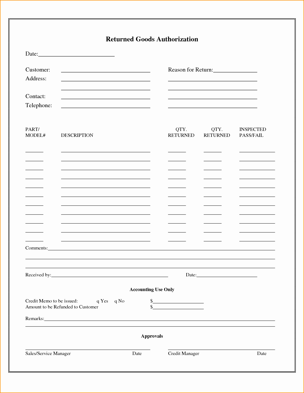 Return Authorization form Template Awesome 24 Of Return Authorization form Template In Word