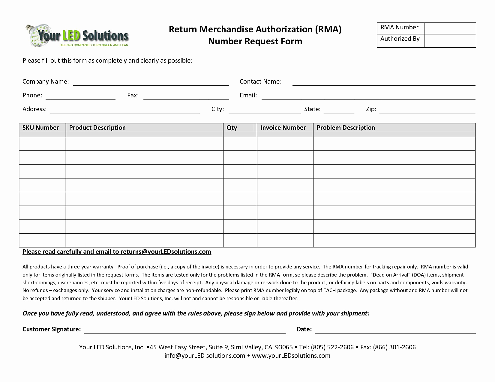 Return Authorization form Template Awesome 24 Of Return Merchandise Authorization form