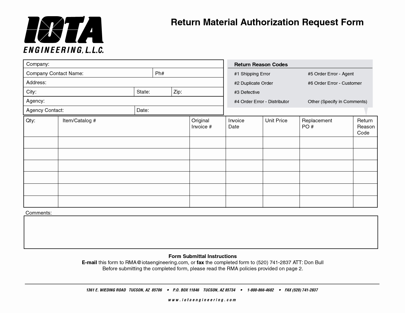 Return Authorization form Template Awesome Best S Of Material Request form Template Material