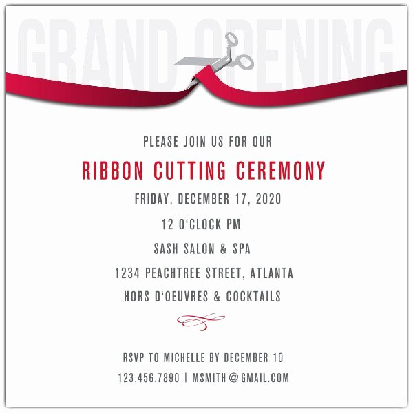 Ribbon Cutting Ceremony Invitation Template Awesome Ribbon Cutting Corporate Invitations