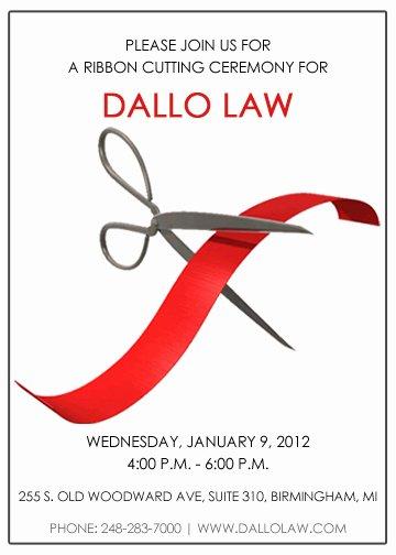 Ribbon Cutting Ceremony Invitation Template Best Of Dallo Law Ribbon Cutting Ceremony Steward Media
